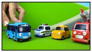 toy cars racing track paws patrol peppa pig ride tayo bus 타요 wheels on the bus demo