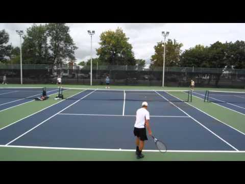 Singles Tennis Match