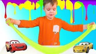 Мультики про машинки для детей - Трактор привез Слайм - видео для детей Tyoma's Toys