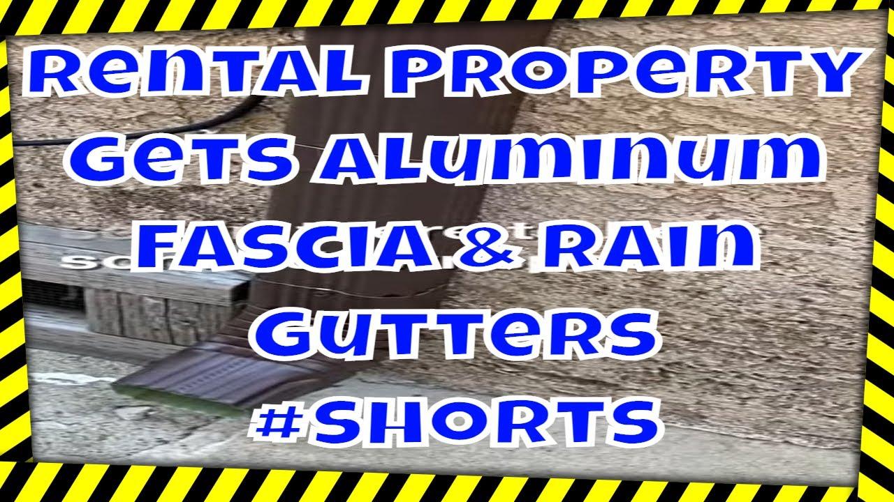 My Rental Property Gets Aluminum Fascia & Rain Gutters - Documenting The Job!