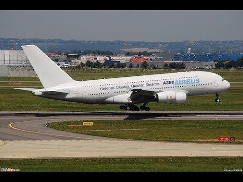 Airbus A380-800 (MSN006)|Testflight Landing in Toulouse at Blagnac Airport