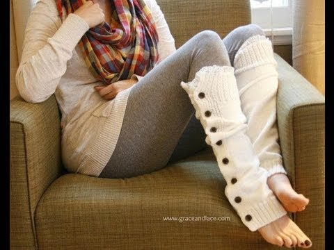 How To Knit Lacey Legwarmers Youtube