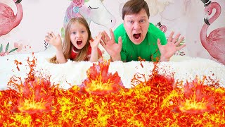 The Floor is Lava song | Milli family SHOW