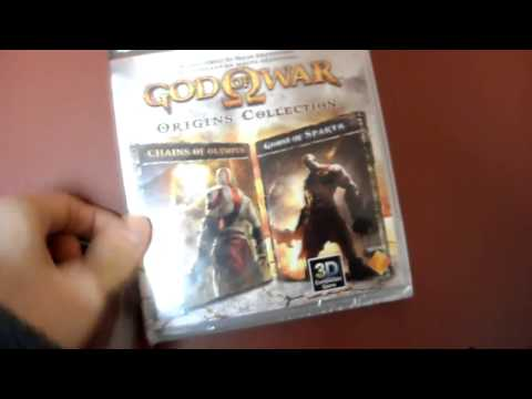 Unboxing God Of War Origins HD Collection SCE Santa Monica Studios PS3 PSP sony Playstation 3