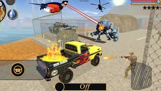 vegas crime simulator transformer car army fire gun destroyed robot car gameplay hd