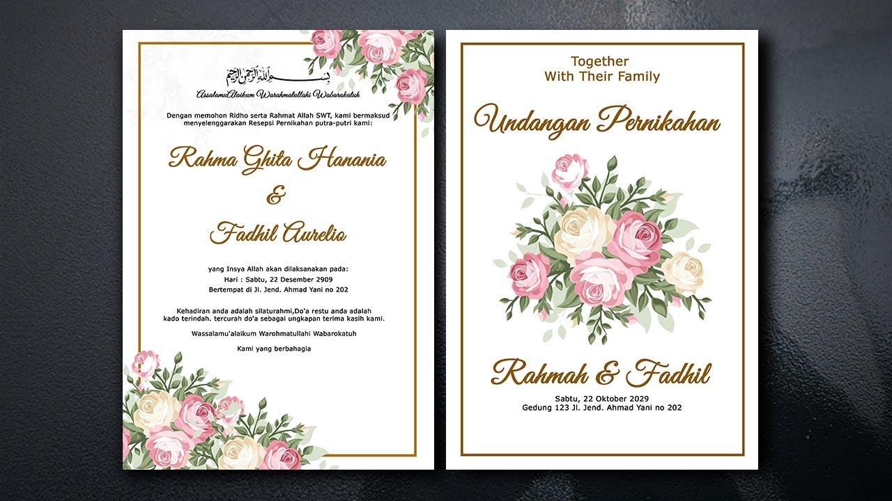 Cara Membuat Desain Undangan Pernikahan Di Photoshop Modern
