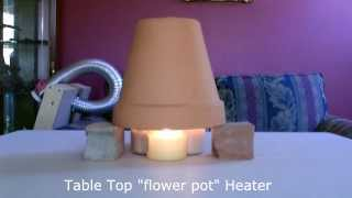 "Candle Powered Space Heater - DIY Air Heater 190F - ""Table Top"" Size - EASY Instructions!"