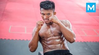 Repeat youtube video Buakaw Strength Training for Muay Thai | Muscle Madness