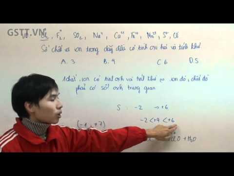 [HÓA] Cách xác định chất vừa có tính ô xi hóa vừa có tính khử - GSTT.VN