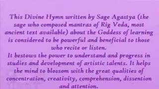 Saraswati Stotram Video (With English Meaning)