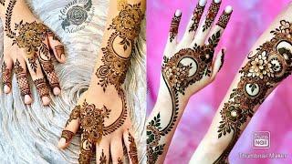 """N"" Letter heart shape mehndi design | Beautiful heart shape mehndi desig | n"