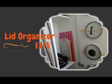 Diy lid organizer kitchen storage solution youtube solutioingenieria Image collections