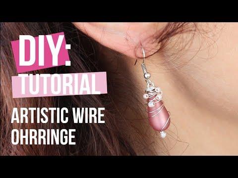 Schmuck machen: Ohrringe mit Artistic Wire ♡ DIY