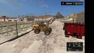 Farming simulator 17 moving snow from the gas station