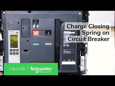 Charging Closing Spring On Masterpact Nw Nt Circuit Breaker Schneider Electric Support Youtube