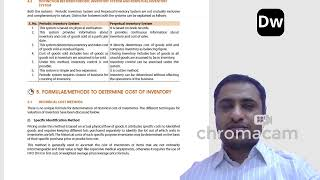 Lecture 7 - Inventories - Part 1 - CA Foundation - Accounts
