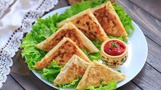 Жареный лаваш с колбасой и сыром — видео рецепт