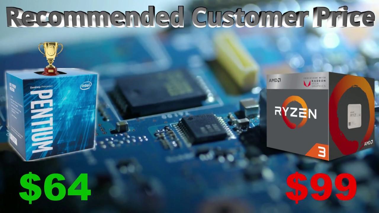 Pentium G4560 Vs Ryzen 3 2200G Benchmark