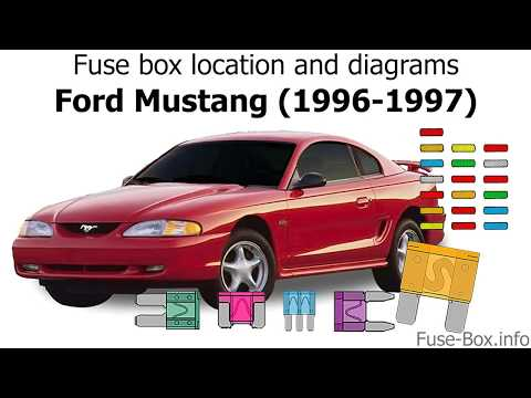 [DIAGRAM_34OR]  Fuse box location and diagrams: Ford Mustang (1996-1997) - YouTube | 1996 Ford Mustang Gt Fuse Diagram |  | YouTube