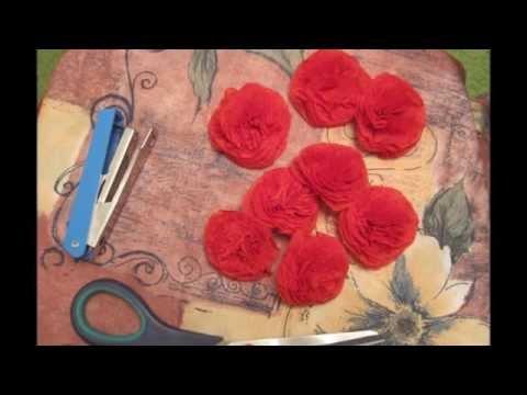 Cмотреть видео Букет роз из салфеток. Мастер-класс