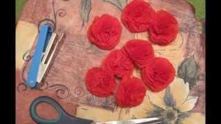 """Букет роз из салфеток. Мастер-класс """"Как сделать букет роз из салфеток"""""""
