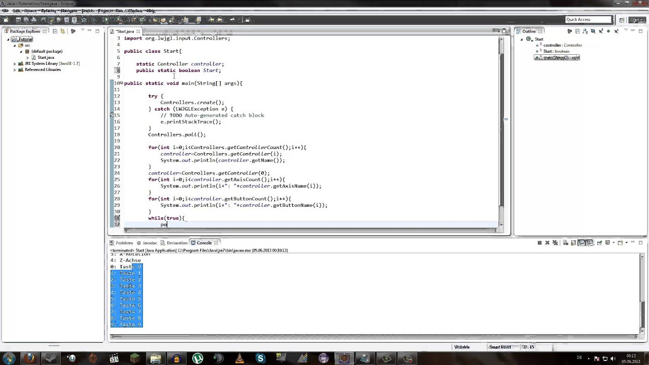 Implementing A Controller Gamepad In Lwjgl In Java And
