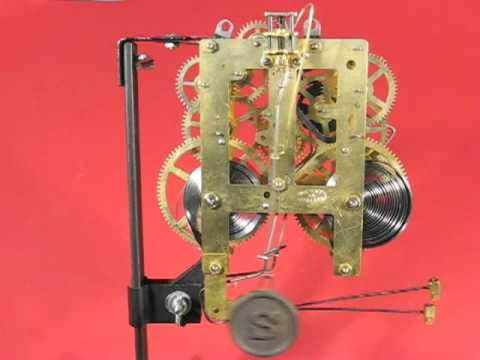 Movement Of Sessions 1938 Tambour Mantel Clock Youtube