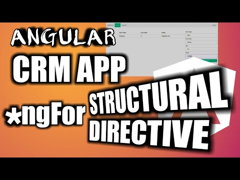 Angular Tutorial: NgFor Structural Directive Implementation | CRM App Enhancement thumbnail