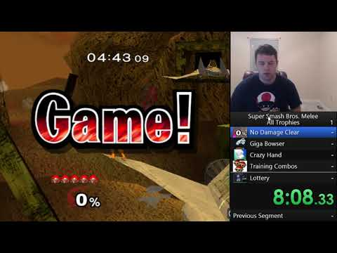 Super Smash Bros Melee - All Trophies In 61:11:50.39 (1/8)