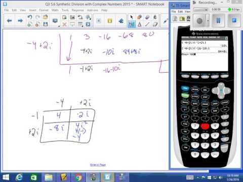 CPM 5 6 Synthetic Division With Complex Numbers