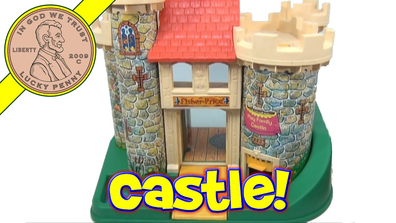 Vintage 1974 Fisher Price Little People Play Family Castle Playset 993 Youtube