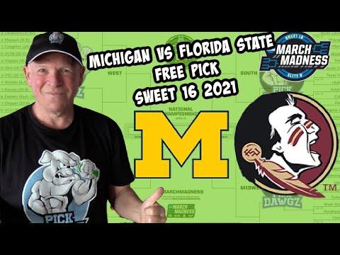 Michigan vs Florida State 3/28/21 Free College Basketball Pick and Prediction NCAA Tournament