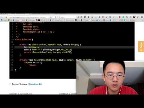 15 min Java Coding Challenge - Closest BST value (FAILED)