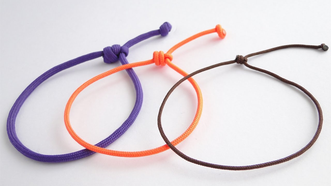 single sliding knot bracelet how to make a simple single strand friendship sliding knot 7908