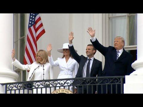 Trump recibe a Macron y fustiga acuerdo nuclear con Irán