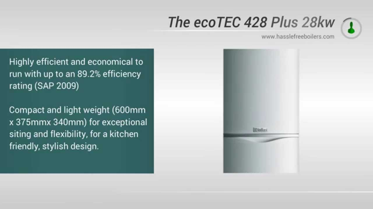 Vaillant 428 ecoTEC 28kw System Boiler Video Review - YouTube
