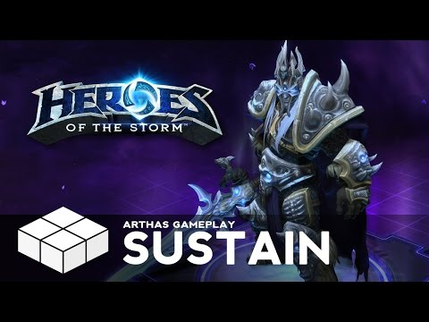 Heroes of the Storm #16 - Arthas Gameplay - Sustain Build