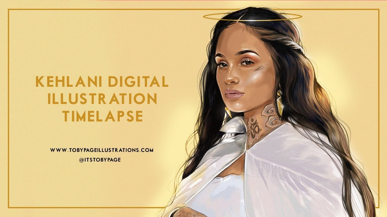 Kehlani Digital Illustration Timelapse