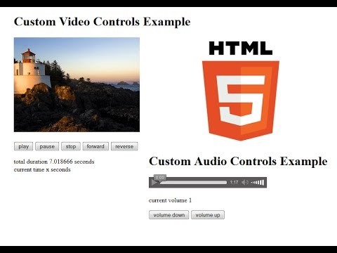 How to Customize HTML5 Video and Audio Controls Using Javascript