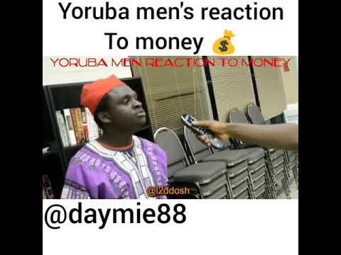 Download Yoruba and igbo men reaction to money.. Comedy video