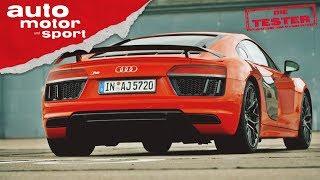 Audi R8 V10 Plus: hoch-drehend, tief-liegend, breit-grinsend - Die Tester   auto motor und sport
