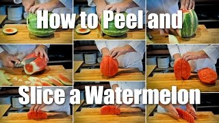 How To Peel & Cut A Watermelon For Salad Or Fruit Tray