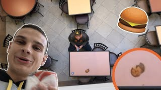 I DROPPED BURGER KING OFF THE SECOND FLOOR!!!