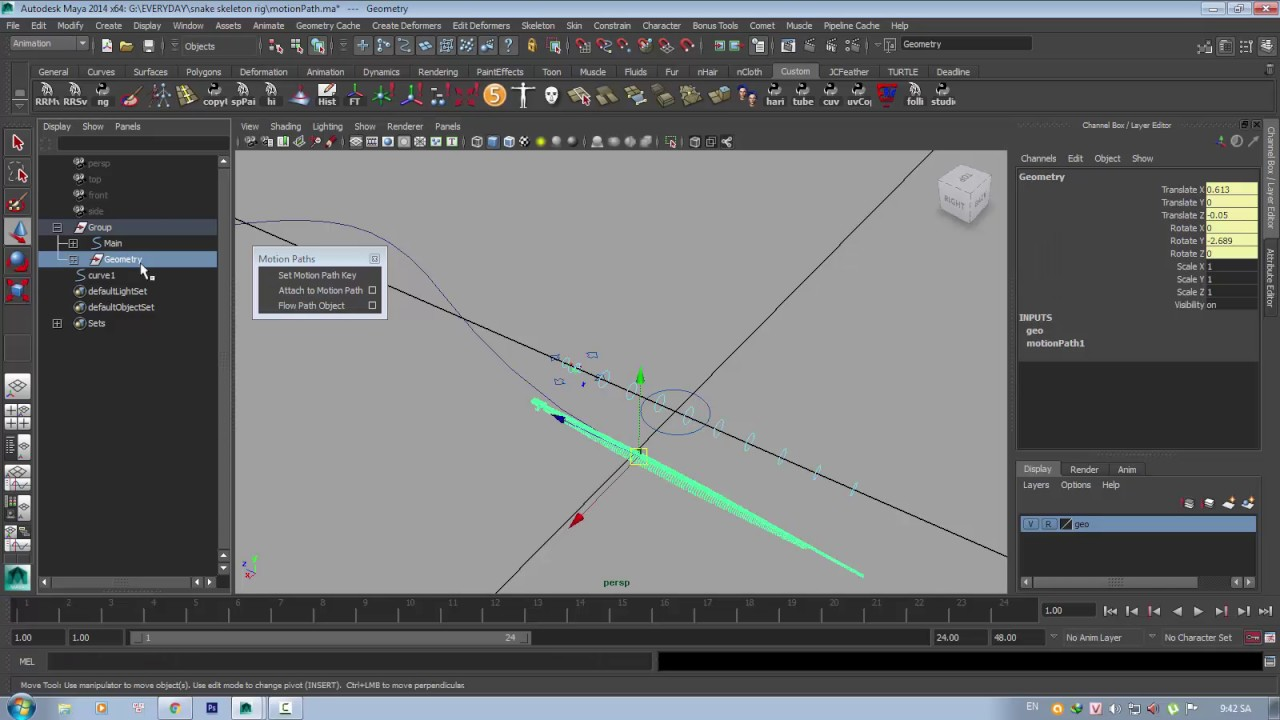 Attach to Motion Path tutorial