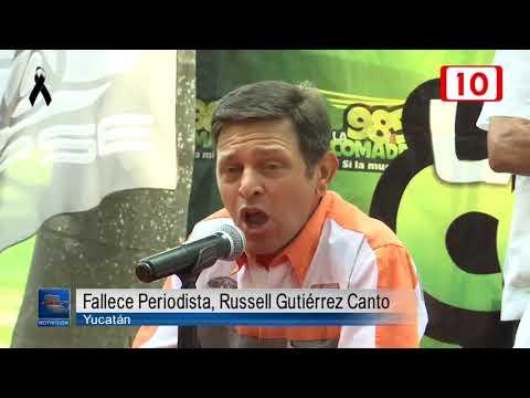 102858 Fallece periodista, Russell Gutiérrez Canto