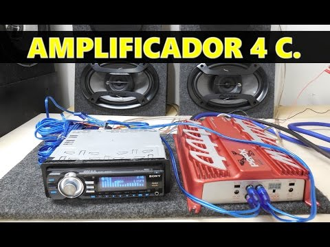Como conectar un amplificador de 4 canales (a 4 bocinas )