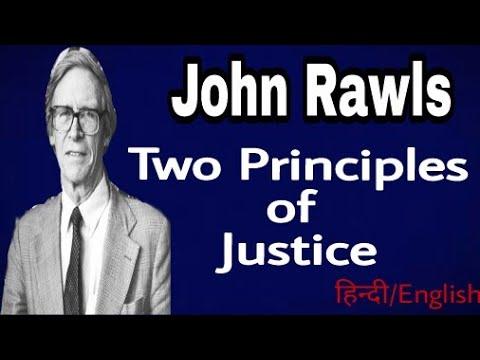 John Rawls'Two Principles of Justice In Hindi