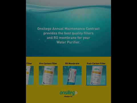 Role of Filters & RO Membrane in Onsitego AMC for Water Purifiers