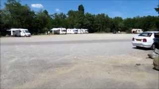 Motorhome aire in Hauterives, Drome, France