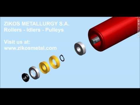 Conveyor roller assembly 3D animation